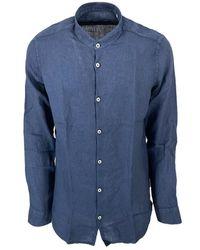 Seventy Camicia Modca1150Car300042 - Bleu