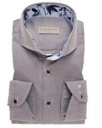 John Miller Slim Fit Overhemd - Bruin