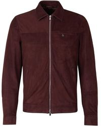 Santa Eulalia Suede Leather Jacket - Rood