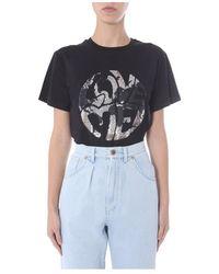 Alberta Ferretti - Round Neck T-shirt - Lyst