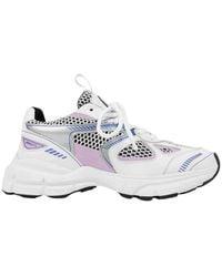 Axel Arigato Marathon Leer En Mesh Running Sneakers - Wit