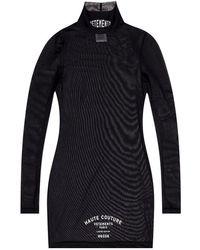 Vetements Sheer Top With Logo - Zwart