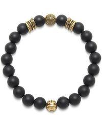 Nialaya Beaded Bracelet With Disc Beads