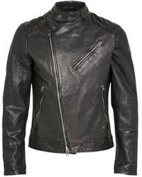 G-Star RAW Biker Suzaki Leather Jacket - Zwart