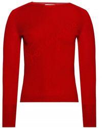 Ferragamo Logo-embroidered Top - Rood