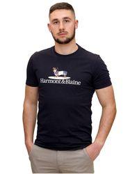 Harmont & Blaine T-Shirt con Bassatto - Blau
