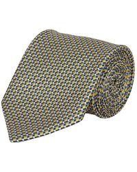 Brioni Tie With A Geometrical Pattern - Grijs