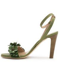 Maliparmi Sandalo con tacco Flower - Verde