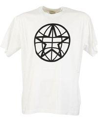 Burberry Globe Star Graphic Oversized T-shirt - Bianco
