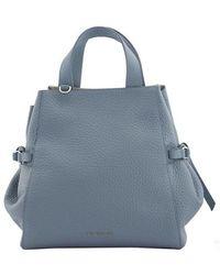 Orciani Fan Soft Medium Handbag - Blauw