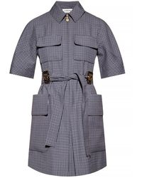 Lanvin Checked Dress - Blauw