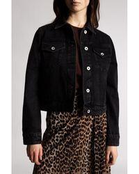 Rag & Bone Distressed denim jacket Negro