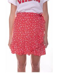Colourful Rebel Shelby Nina Floral Wrap Skirt Women - Rood