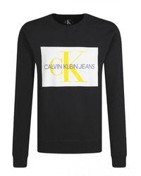 Calvin Klein Sweat À Gros Logo Printé - Zwart