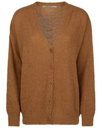 summum woman - Alpaca Knit Cardigan Walnut - Lyst