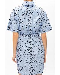 KENZO Vestido de manga corta Azul