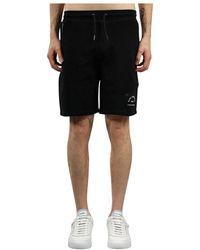Karl Lagerfeld Bermuda jogger In Felpa - Zwart