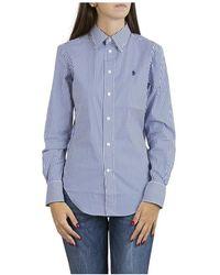 Ralph Lauren Camicia A Righe Taglio Classico - Blauw