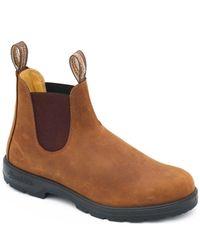 Blundstone Lederstiefel Classic Comfort PU / TPU Sohle Crasy Horse - Braun