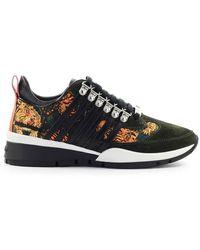 DSquared² Tiger Print Sneaker - Zwart