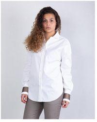 Brunello Cucinelli - Camicia con polsini - Lyst