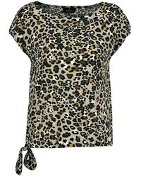 Monari T-shirt Leopard Print - Groen