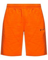 Off-White c/o Virgil Abloh Branded camiseta Blanco - Naranja