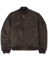 Calvin Klein Padded Bomber Jacket - Groen