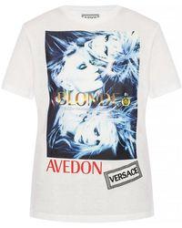 Versace - Gedrukte T-shirt - Lyst