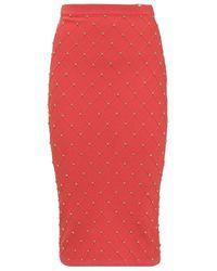 Elisabetta Franchi Skirt With Studs - Rood