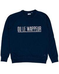 Cheaque Ou Le Wappeur Streep Sweater - Blauw
