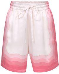 CASABLANCA Printed Bermuda Shorts - Roze
