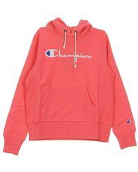 Champion Hooded Sweatshirt - Roze