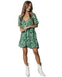 Colourful Rebel Dress - Groen