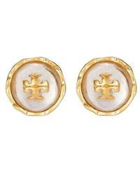 Tory Burch Roxanne Circle-stud Earring - Geel