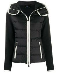Moncler Contrasting Trim Padded Jacket - Zwart