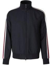 Valentino Striped Zip-up Jacket - Zwart