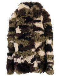 Miu Miu Mps663tucf0161 Wool Coat - Groen