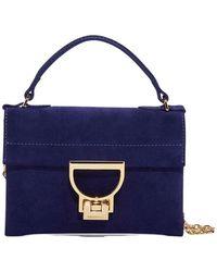 Coccinelle Arlettis Mignon Suede Bag - Blauw