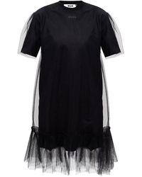 MSGM Tulle dress - Nero