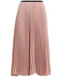 Paolo Fiorillo Capri Pleated Midi Skirt - Roze