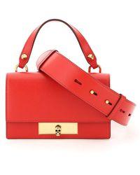 Alexander McQueen Skull Lock Mini Bag - Rood