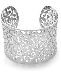 Twice As Nice Armband In Edelstaal, Rigide 5,5 Cm - Grijs