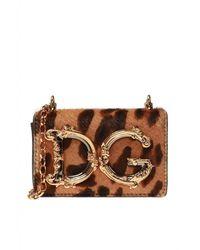 Dolce & Gabbana Portefeuille Op Ketting - Bruin