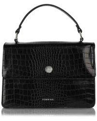 Pomikaki Coconut effect handbag - Noir