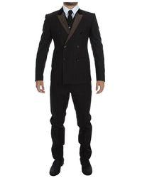 Dolce & Gabbana 3 Piece Suit Tuxedo - Bruin