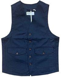 Universal Works Waistcoat Ves - Blauw