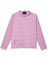 Marc Jacobs Striped T-shirt - Roze