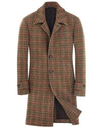 L.B.M. 1911 Old style checked coat - Marron