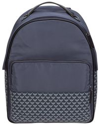 Emporio Armani Men's Rucksack Backpack Travel - Blauw